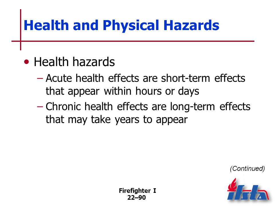 Health and Physical Hazards