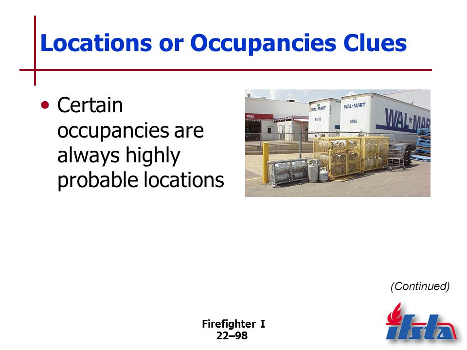 Locations or Occupancies Clues
