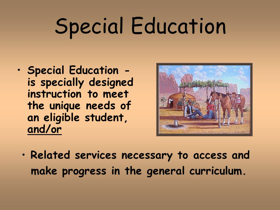 special education services The office of special services is responsible for the state's oversight and support  for the delivery of all special education services provided in maine under the.