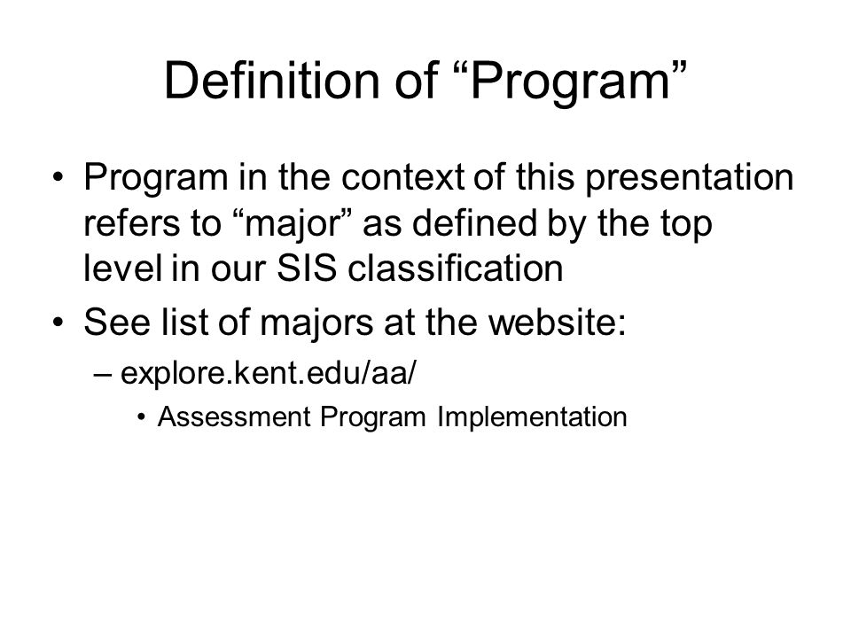 Definition of Program