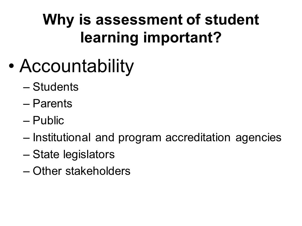 why is assessment important Assessment is important for the development of your instruction however,  teachers often use assessments the wrong way assessments are about  improving.