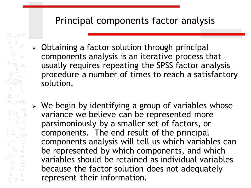 factor analysis spss