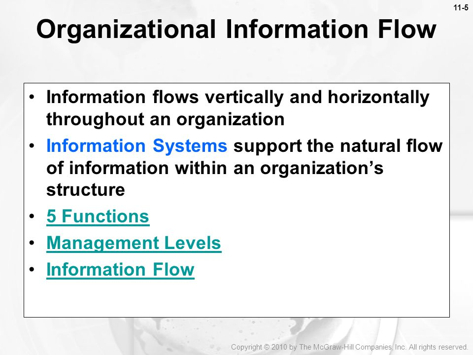 Organizational Information Flow