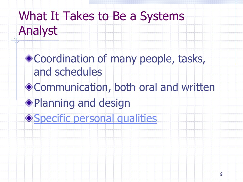 What It Takes to Be a Systems Analyst