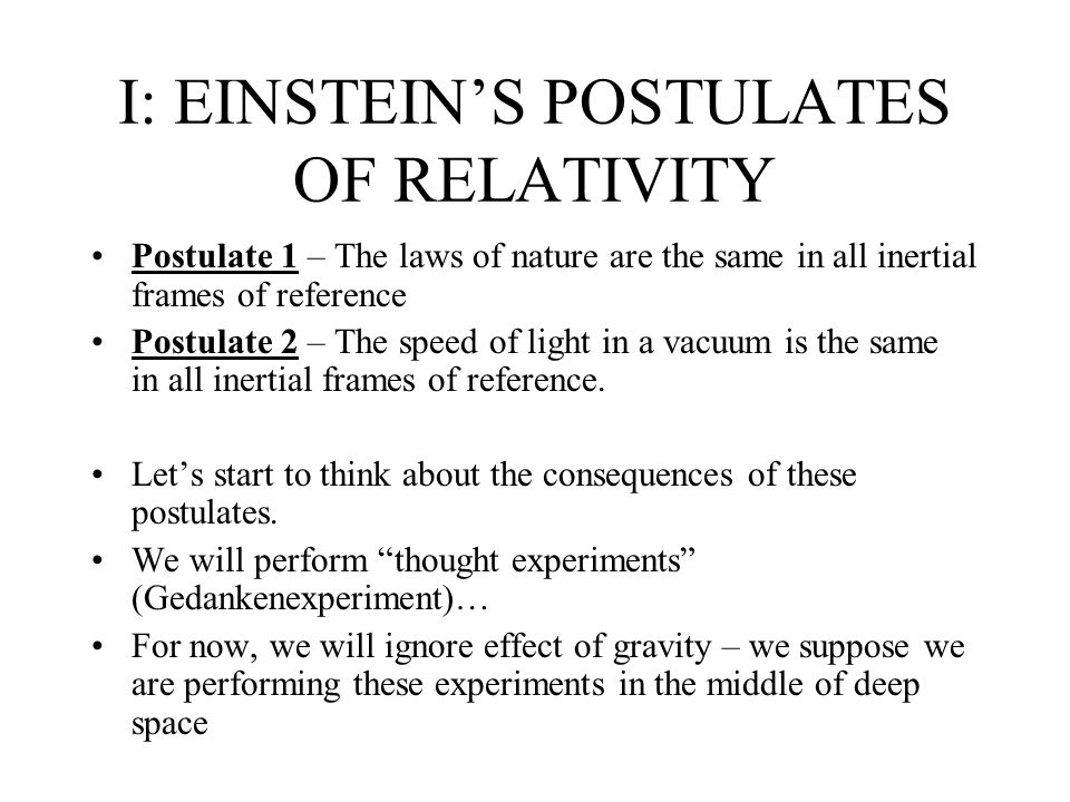 an analysis of einsteins special theory of relativity based on the idea of reference frames The wordrelativity might conjure an image of einstein, but the idea did based the theory of special relativity in all inertial frames of reference.
