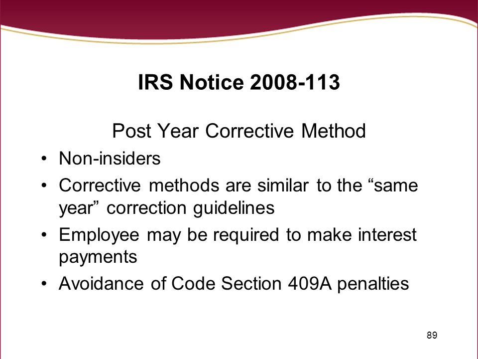 Description Design Pensation Arrangements To Ply With Section 409a And Avoid Ly Irs