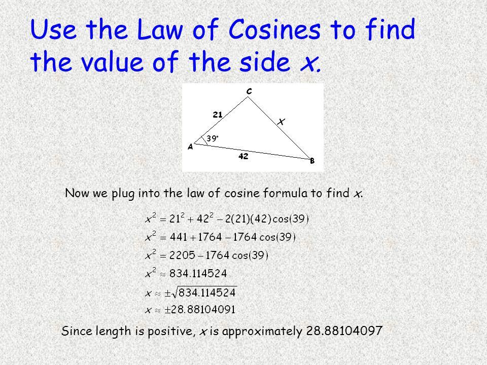 law of cosines formula pdf