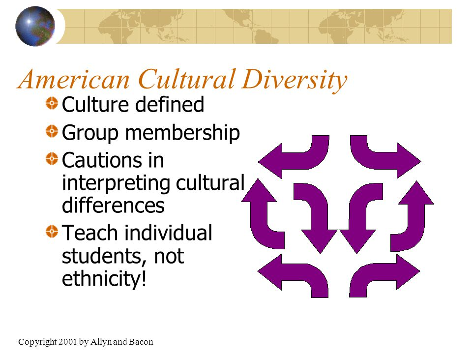 diversity culture and america The cultural and economic benefits of integrating immigrants  this is simple  political math: more diverse american schools today means a.