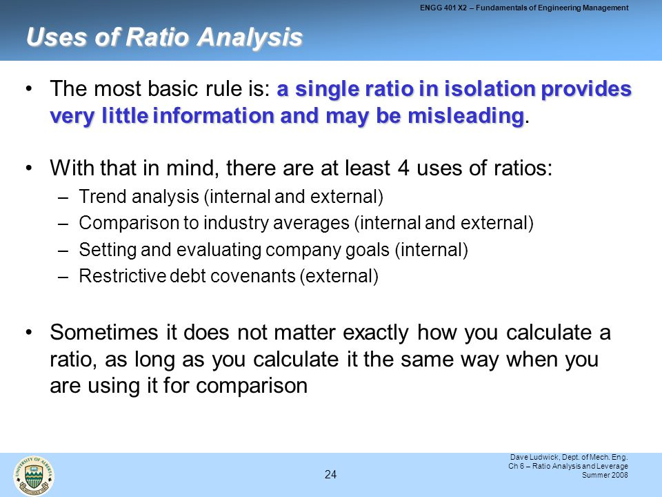 importance of ratio analysis in evaluation of firms Financial ratio analysis is performed by comparing two items in the financial statements  a d/e ratio of more than 1 implies that the company is a leveraged firm .