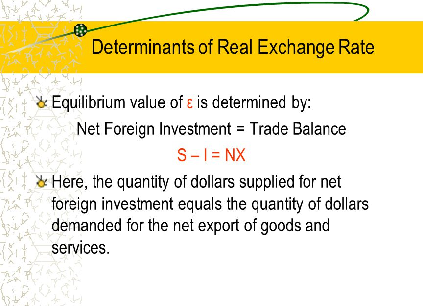 determinants of exchange rate in mogadishu Figure 185 determinants of exchange rates in the long run in addition, three other factors affect exchange rates in the long run: relative trade barriers, differential preferences for domestic and foreign goods, and differences in productivity .