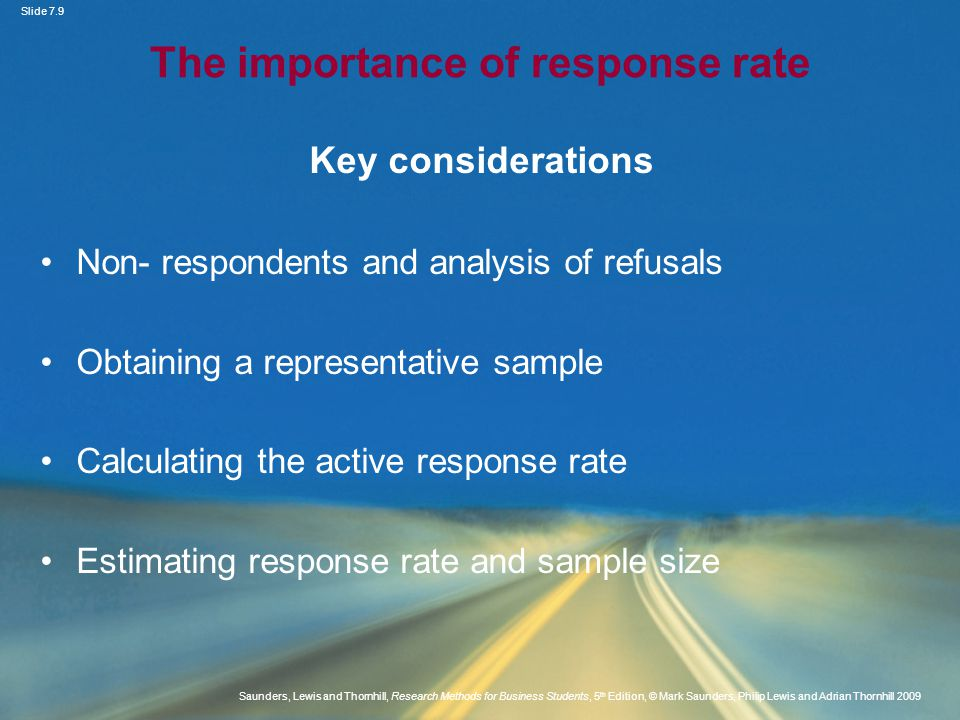 The importance of response rate