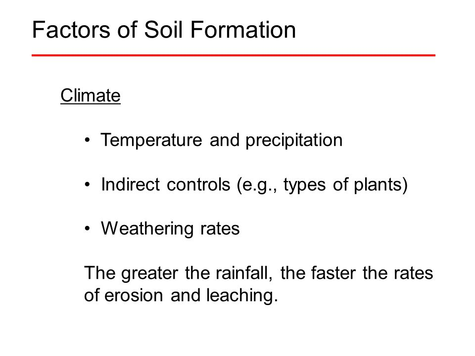 Soils ppt video online download for Soil forming factors