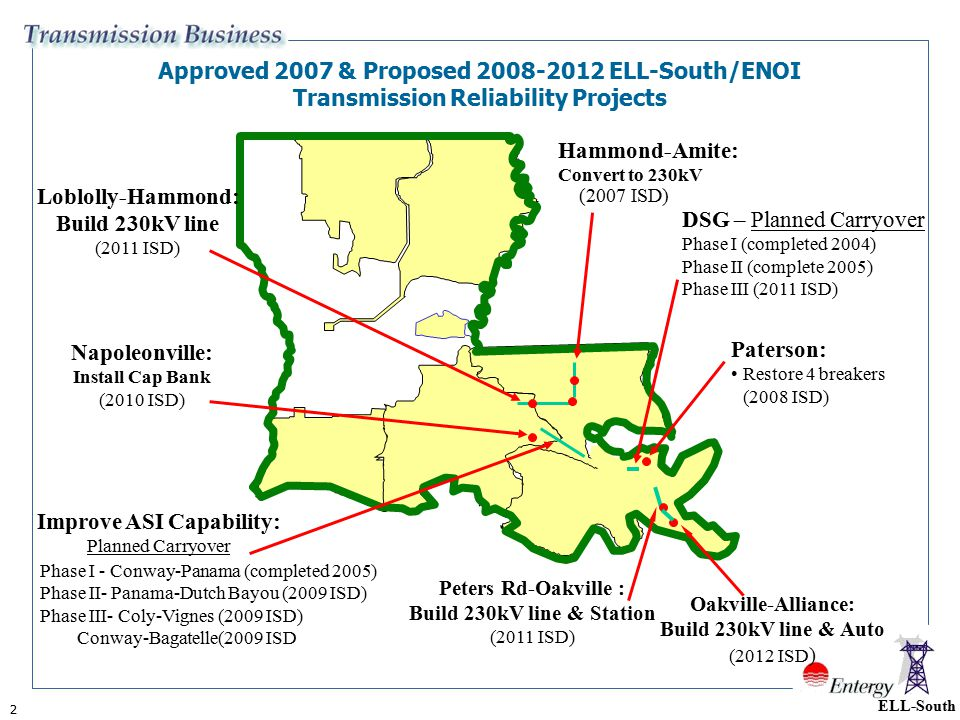Approved 2007 & Proposed ELL-South/ENOI