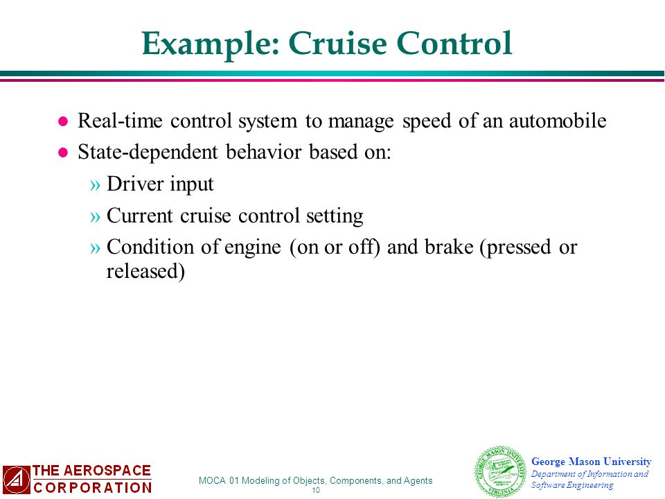 Example: Cruise Control