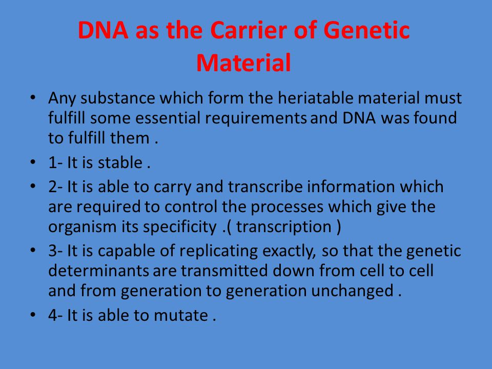 dna as genetic information carrier biology essay Study 22 chapter 12 dna: the carrier of genetic information flashcards from erin a on studyblue.