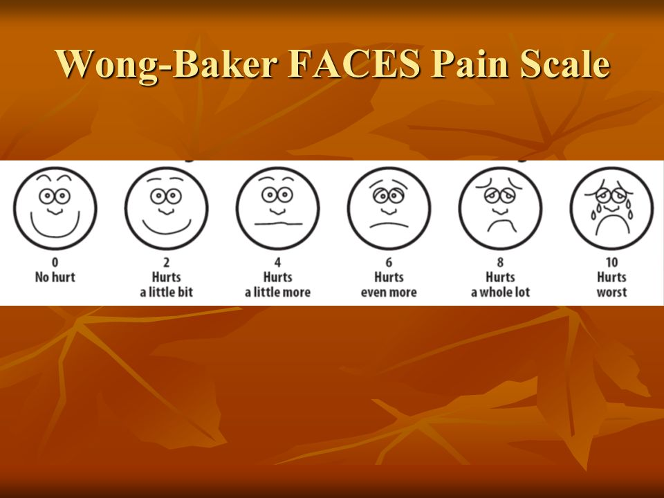 Wong-Baker FACES Pain Scale