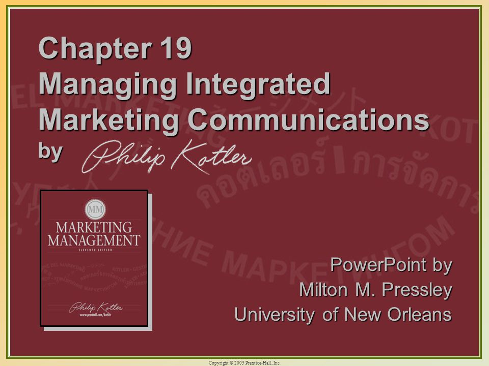 integrated marketing communications and the language
