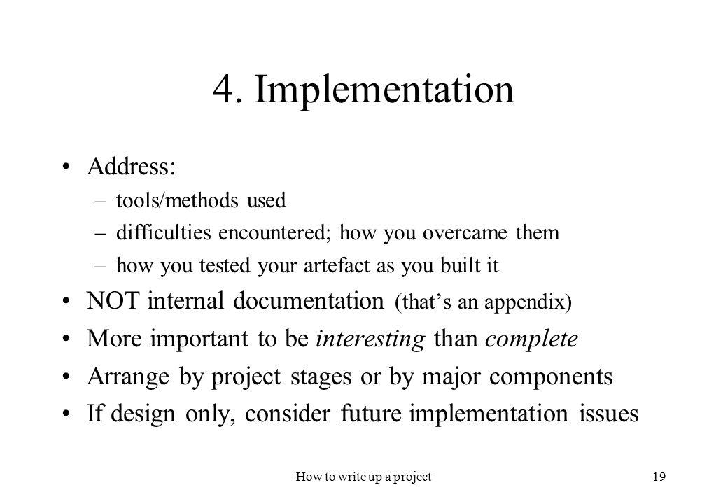 project write ups