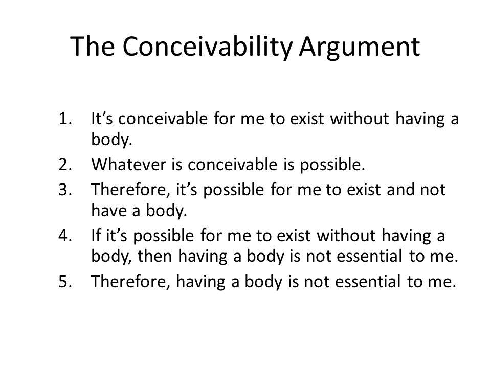 The Conceivability Argument