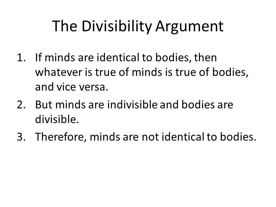 The Divisibility Argument