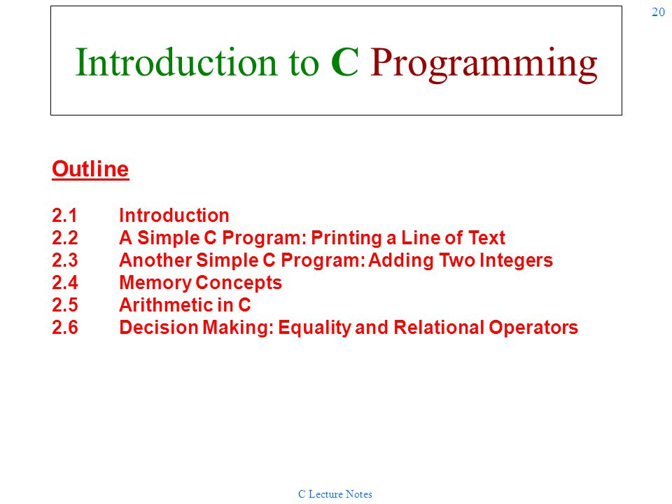 Introduction to C Programming
