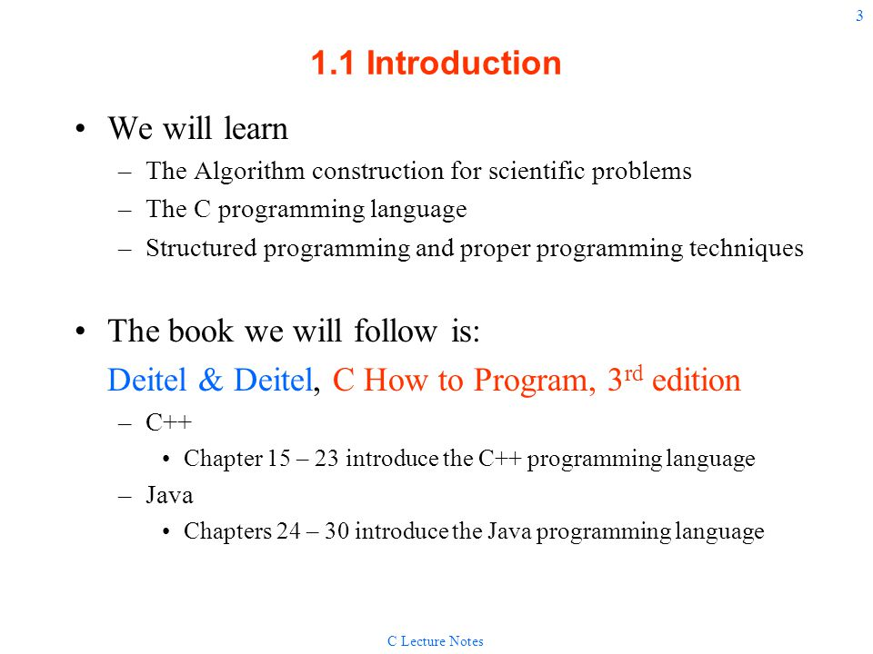 C for Engineers and Scientists Introduction to Programming