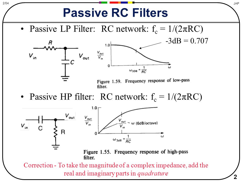 passive filter 24-12-2010 a tutorial on passive low pass rc filter circuits, and how they affect the frequency content of signals an example of an rc filter that could go before a su.