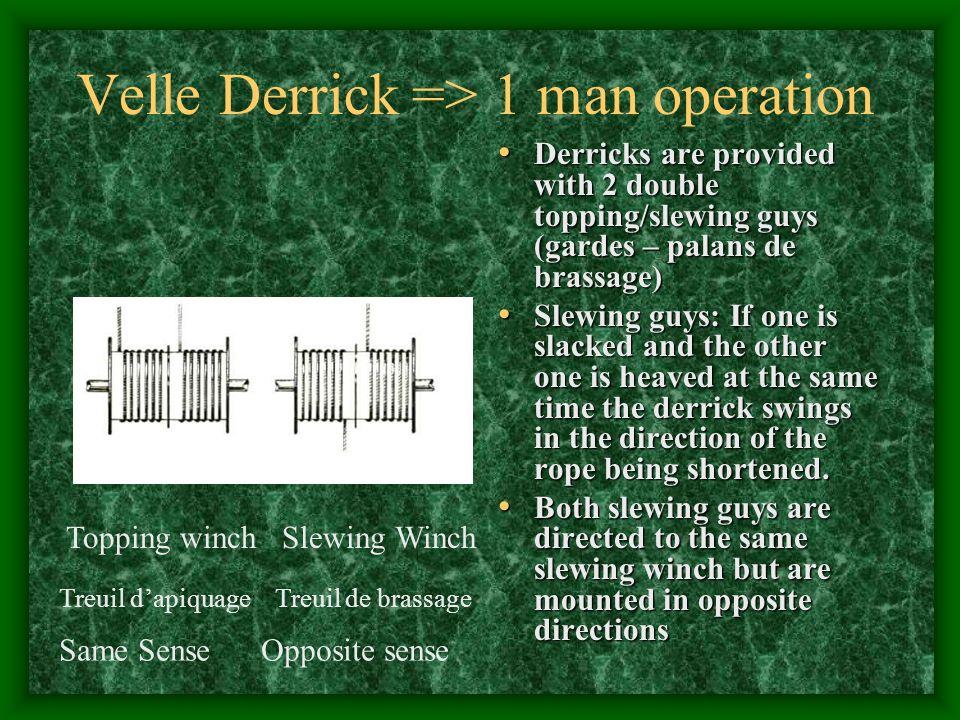 Velle Derrick => 1 man operation