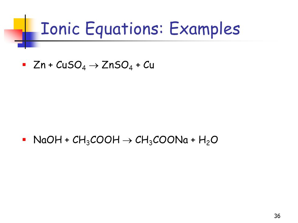 Ionic Equations: Examples