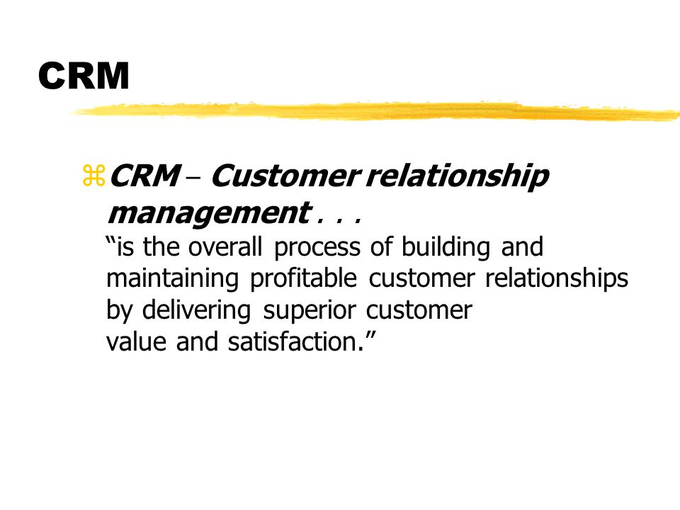 introduction to relationship marketing strategy