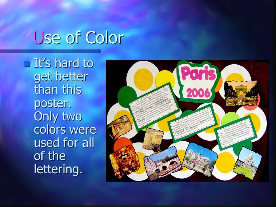 Use of Color It's hard to get better than this poster.