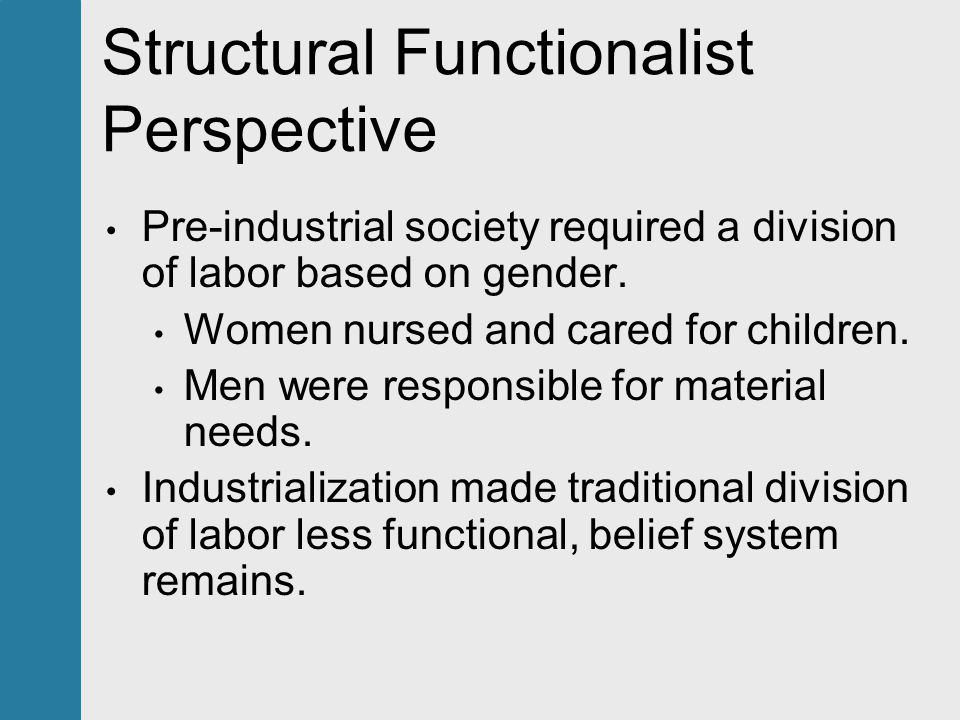 structural functionalist theory on healthcare These three theories are the structural functionalist the conflict theorists and the symbolic interactionists the first theory is structural functionalism.