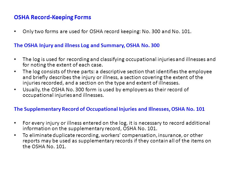 INJURY & ILLNESS RECORD KEEPING AND INCIDENCE RATES - ppt video ...