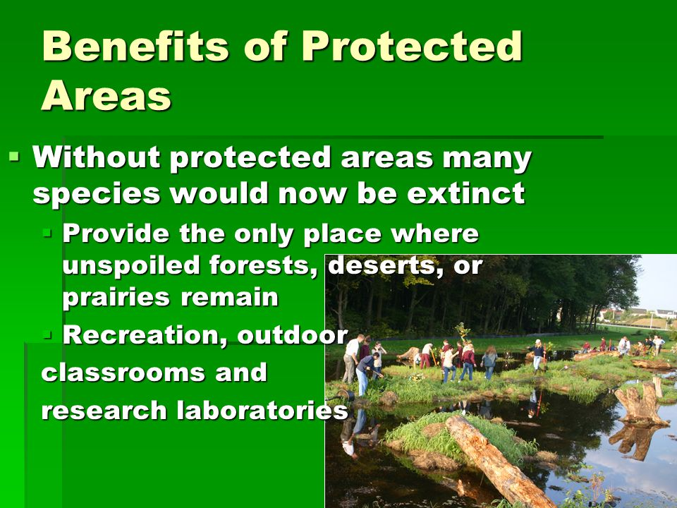 Benefits of Protected Areas