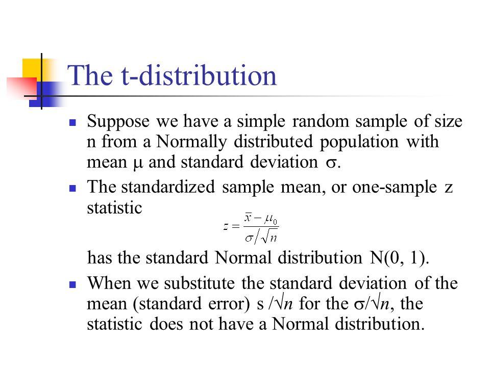 standard deviation and random sample