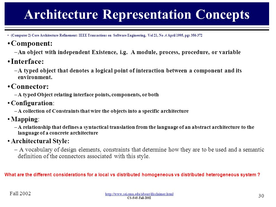 Software architecture ppt download for Architectural concept definition