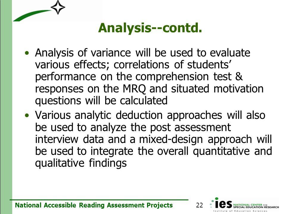 Analysis--contd.