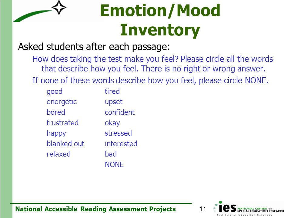 Emotion/Mood Inventory