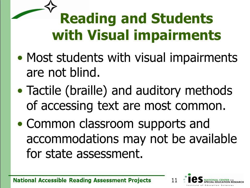 Reading and Students with Visual impairments