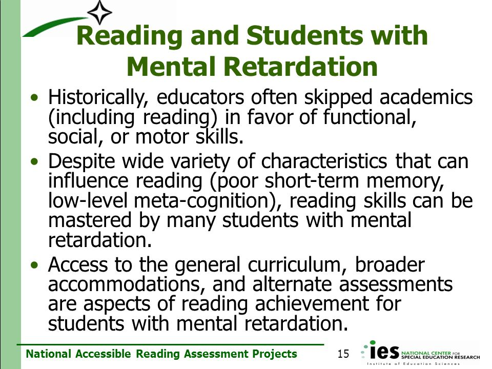 Reading and Students with Mental Retardation