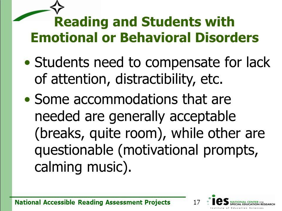 Reading and Students with Emotional or Behavioral Disorders