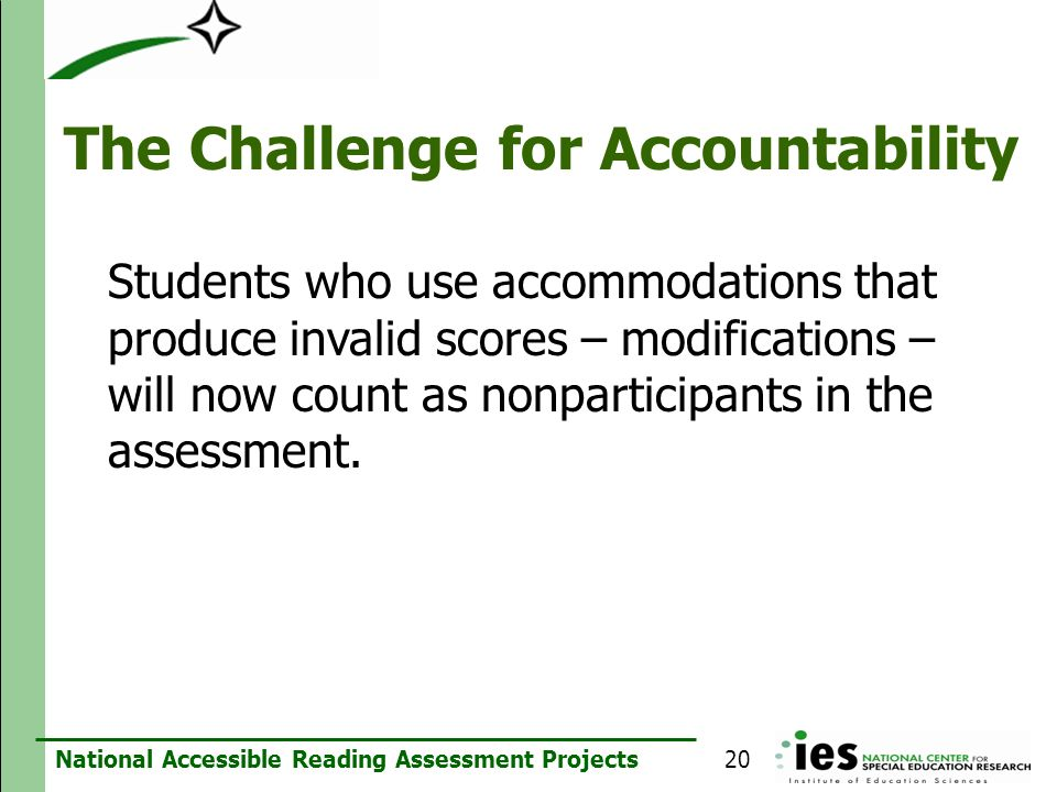 The Challenge for Accountability