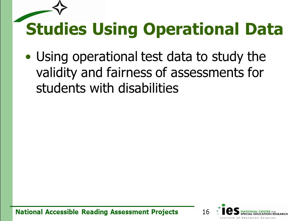 Studies Using Operational Data