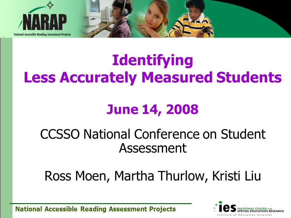 Identifying Less Accurately Measured Students June 14, 2008