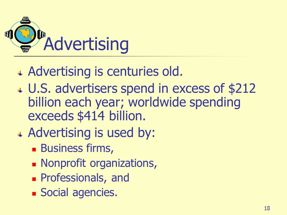 Advertising Advertising is centuries old.