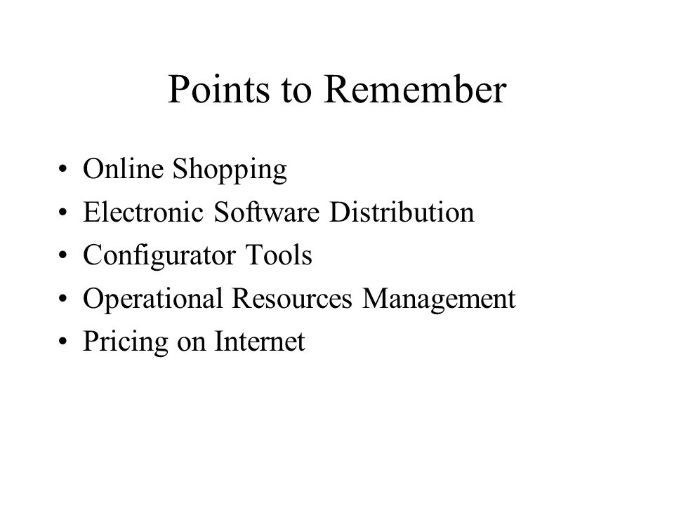 Points to Remember Online Shopping Electronic Software Distribution