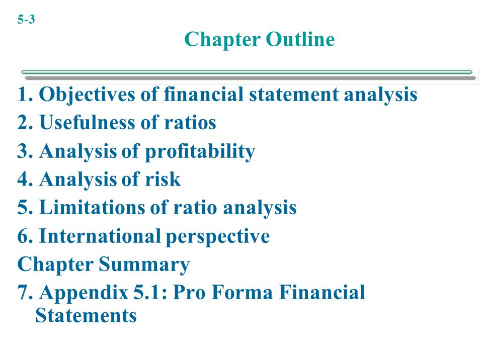 examining the usefulness of financial statement analysis Financial statement analysis sloan school of management massachusetts institute of technology the process of examining various financial statement.