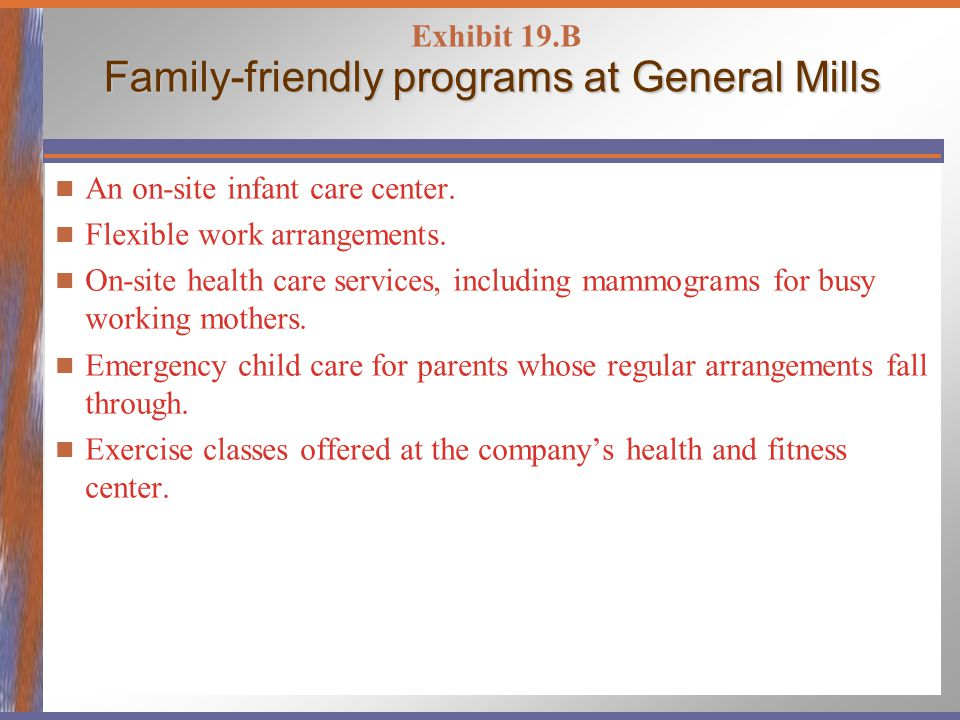 Family-friendly programs at General Mills