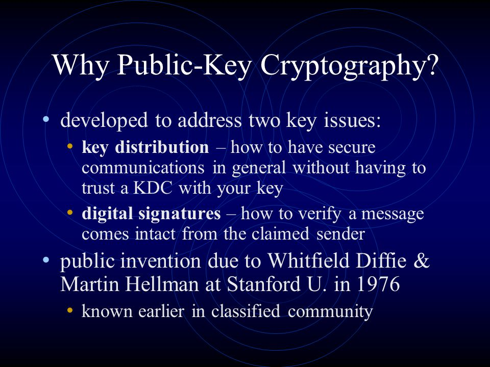 Why Public-Key Cryptography
