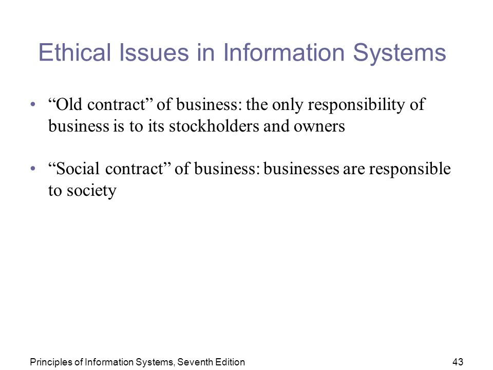 ethical issues in information systems Ethical and social issues in information systems ethical and social issues in information systems skip navigation sign in search loading.